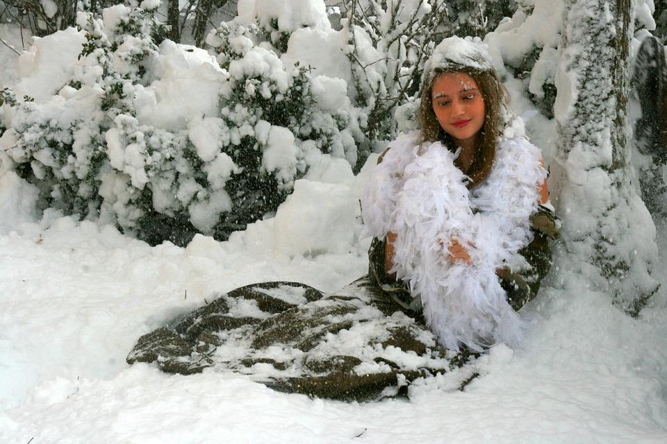 Girl, Snow, Winter, Princess, Feerie