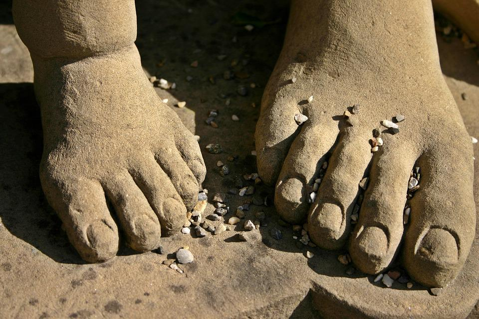 Feet, Ten, Figure, Monument, Sculpture, Stone, Pebble