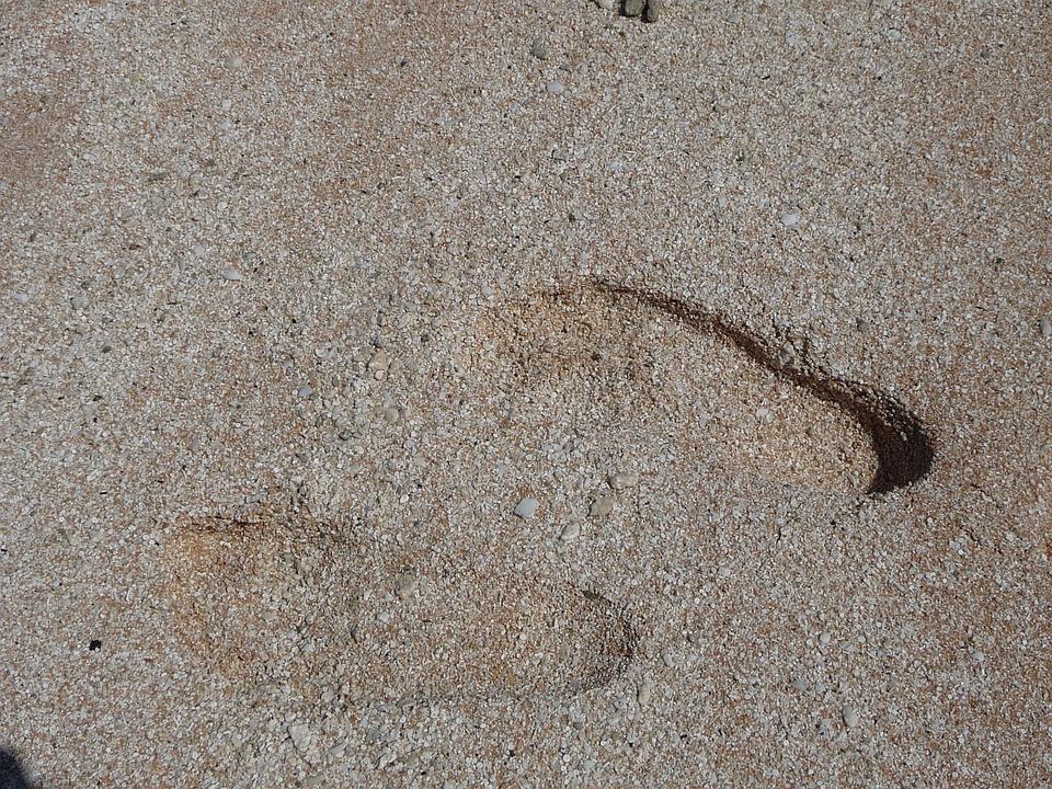 Feet, Beach, Foot Trail