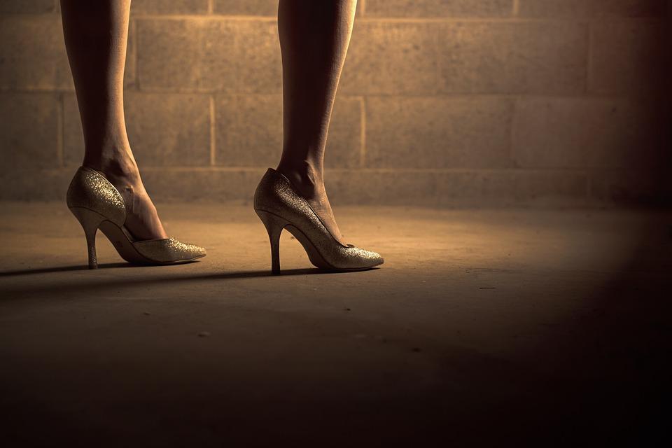 High Heels, Shoes, Woman, Girl, Legs, Feet, Floor