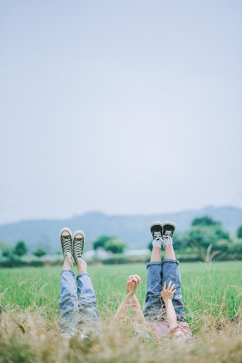 Friends, Feet, Field, Girls, Together, Friendship
