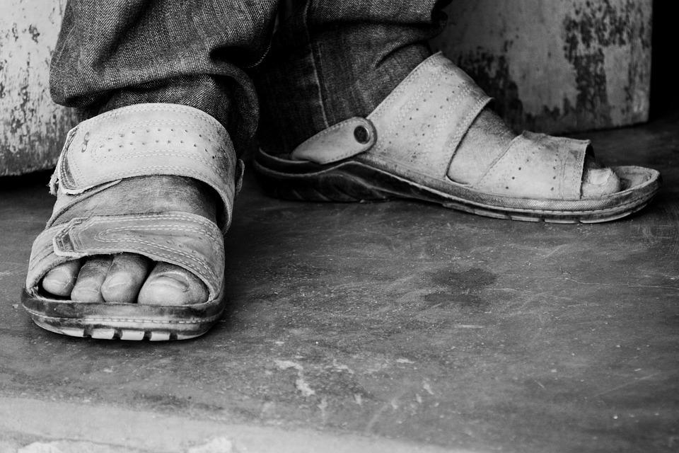 Feet, Man, Sandals