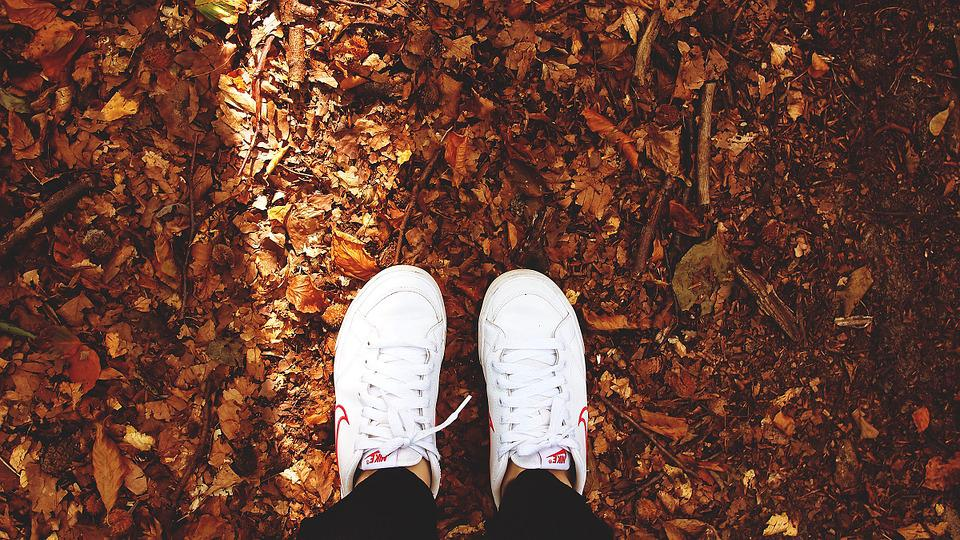 Shoes, Kid, Feet, Autumn, Sneakers, Footwear, Young