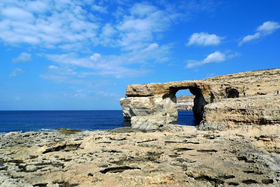 Felsentor, Sea, Gozo, Mediterranean, Rocky Coast