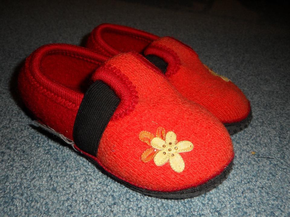 Slippers, Wool Felt, Felt, Felt Slippers, Shoes