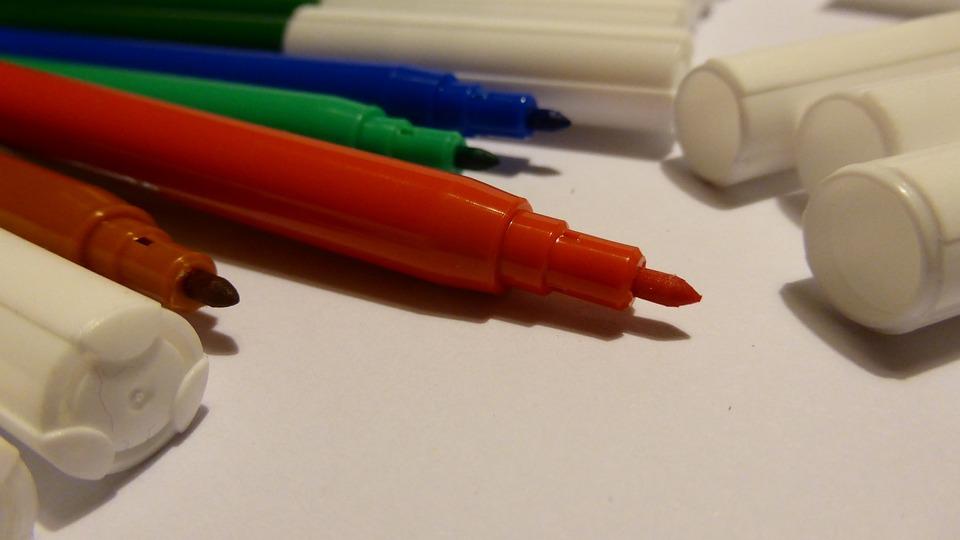 Felt Tip Pens, Color, Colorful, Stationery, Pens, Paint