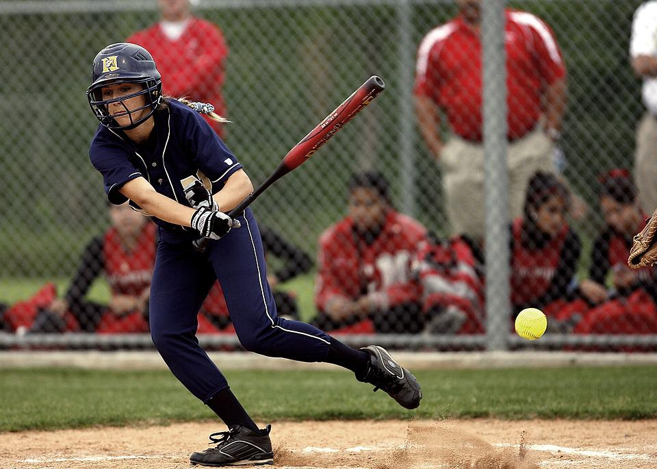 Softball, Batter, Female, Action, Game, Competition