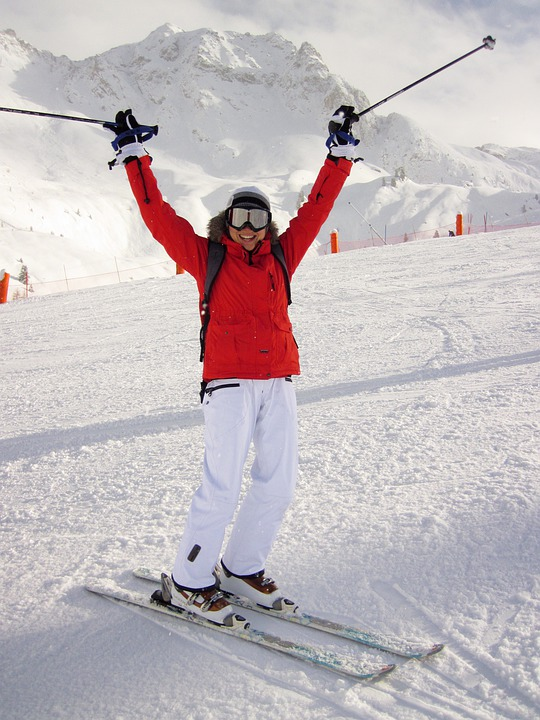 Active, Cold, Female, Girl, Mountain, People, Ski