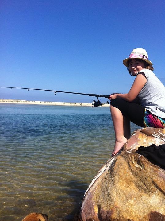Fishing, Girl, Angling, Fishing Rod, Female, Young