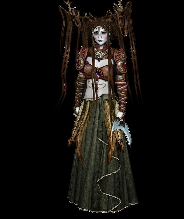 Elf, Druid, Fantasy, Fantasy Character, Dark, Female