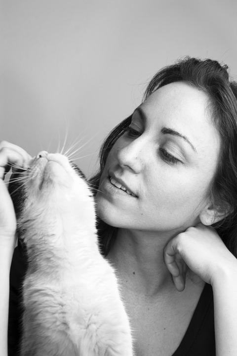 Girl, Cat, Love, Young, Female, Beautiful, Animal