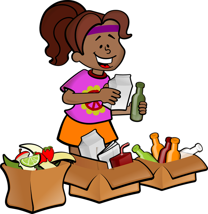 Woman, Girl, Black, Female, Rubbish, Recycling, Recycle
