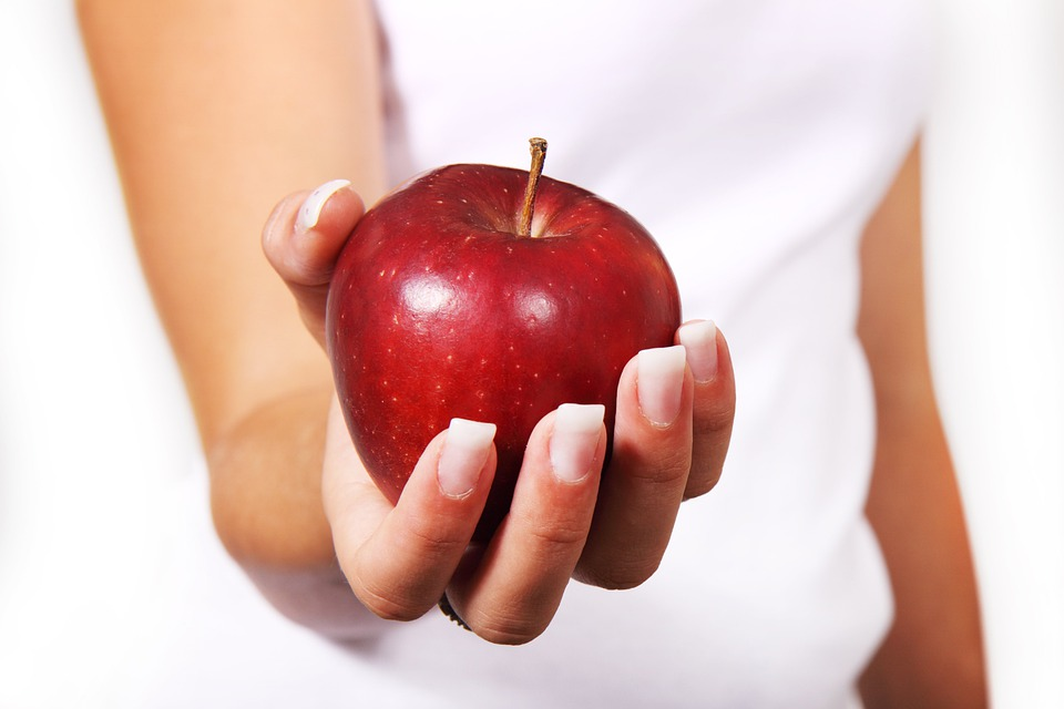 Apple, Diet, Female, Food, Fresh, Fruit, Girl, Hand