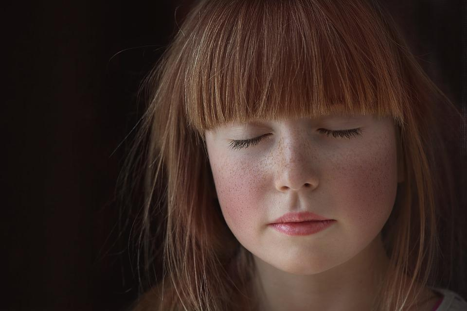 Person, Human, Female, Face, Eyes Closed, Red Hair
