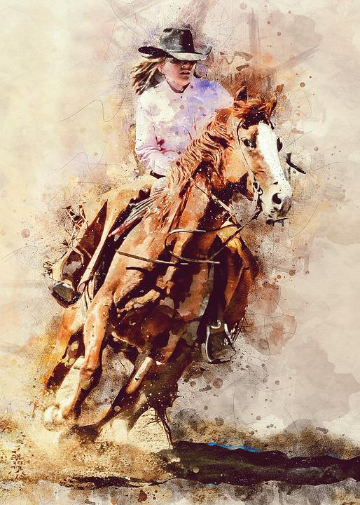 Rodeo, Cowgirl, Girl, Female, Human, Person, Western
