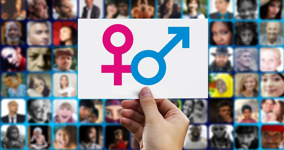 Equality, Male, Female, Symbol, Photomontage, Faces