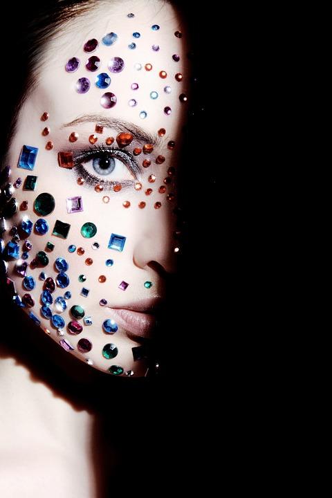 Woman, Face, Diamonds, Model, Person, Female, Makeup