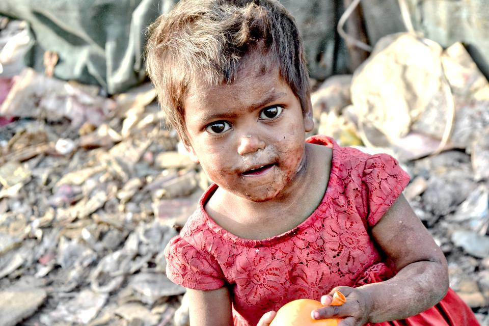 Slums, Poor, India, Girl, People, Help, Female, Young