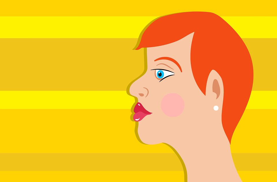 Female, Girl, Portrait, Profile, Red Head, Woman