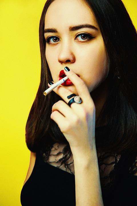 The Girl Smokes, Female Portraits, Girl, Fashion