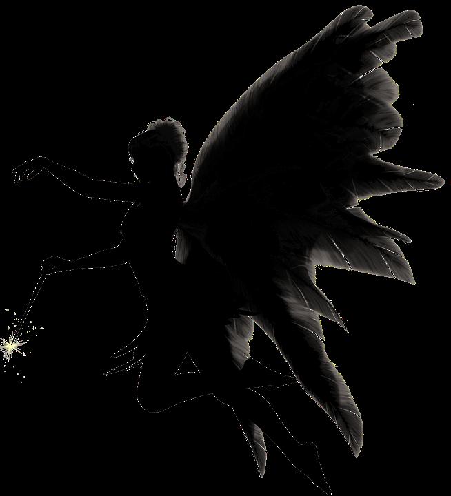 Angel, Woman, Wing, Silhouette, Female, Figure