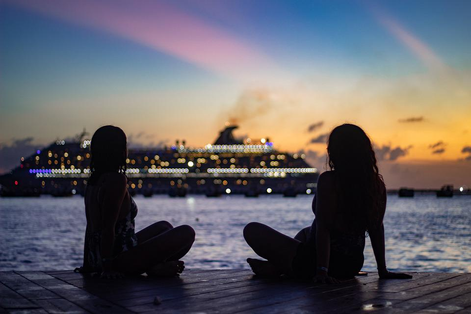 Women, Pair, Silhouettes, Female Silhouettes, Relaxing