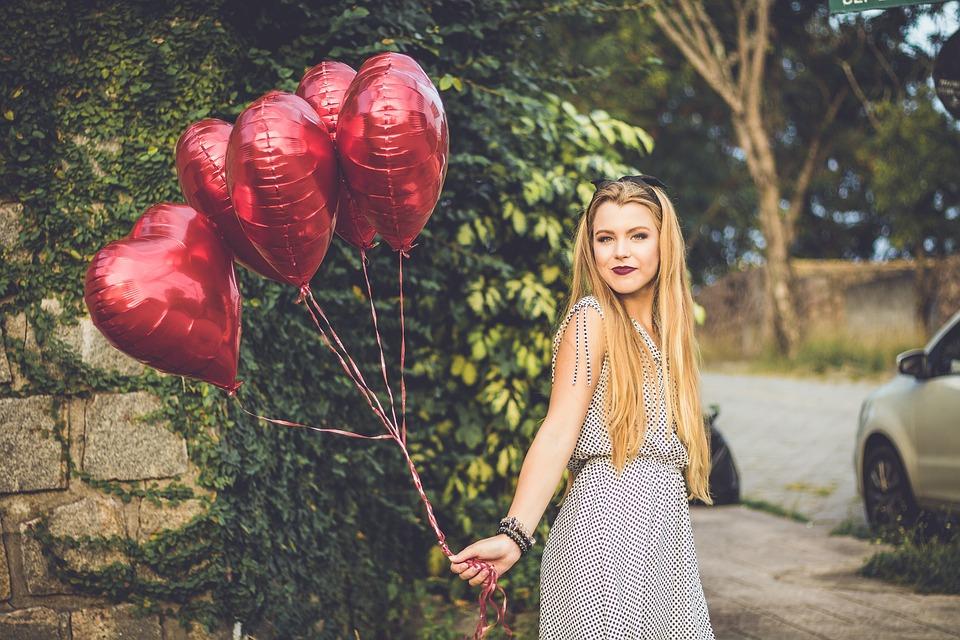 Girl, Heart, Happy, Summer, Young, Fun, Joy, Female