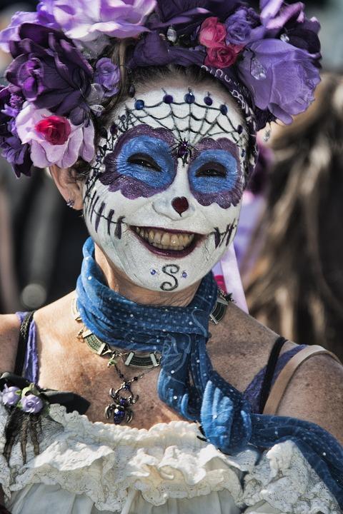 Woman, Women, Female, Portrait, Masquerade, Face