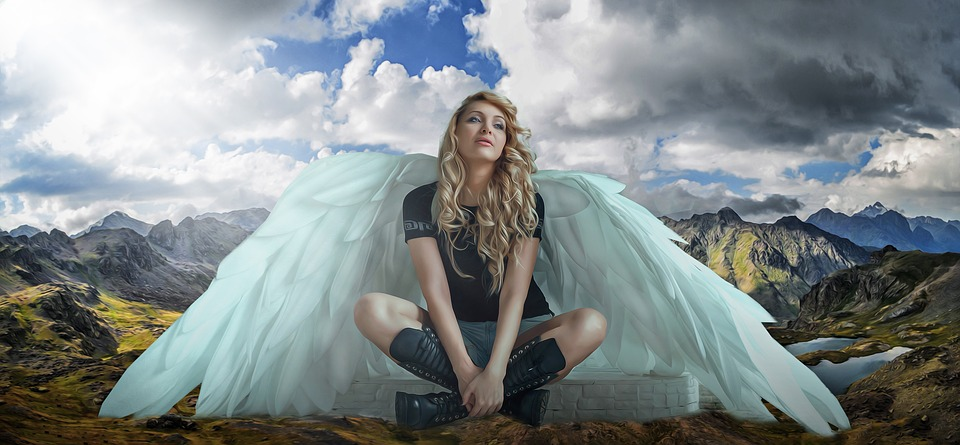 Free Photo Female Young Angel Woman Wings Beauty Girl Max Pixel