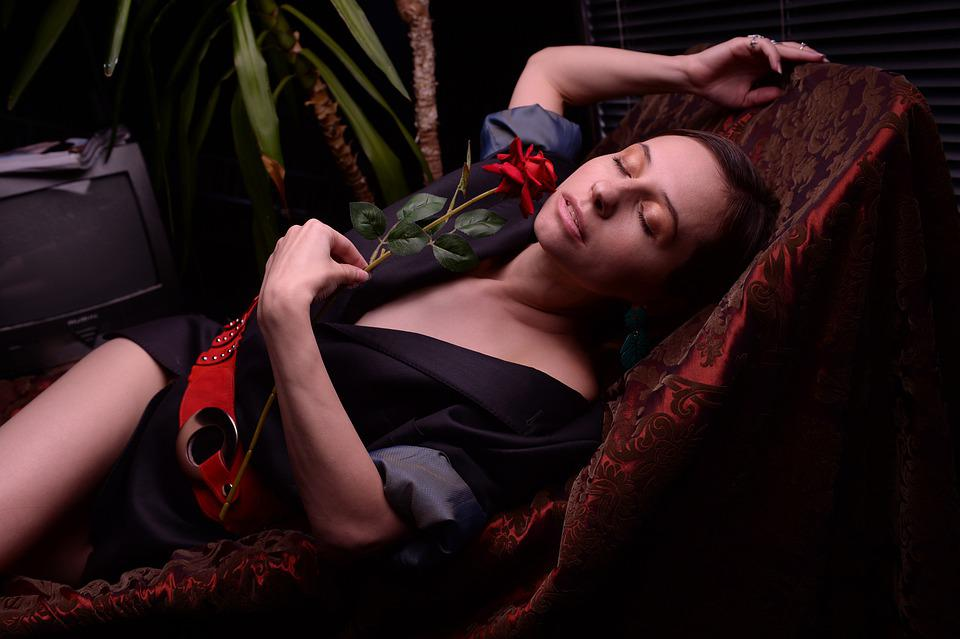 Rose, Girl, Woman, Passion, Love, Elegantly, Femininity