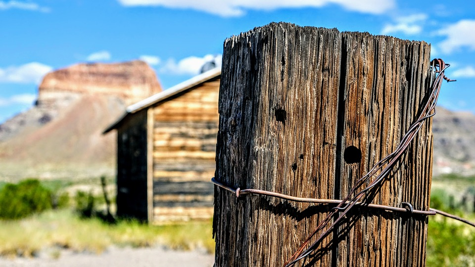 Big Bend, Western, Barbed Wire, Fence, Southwest, Texas