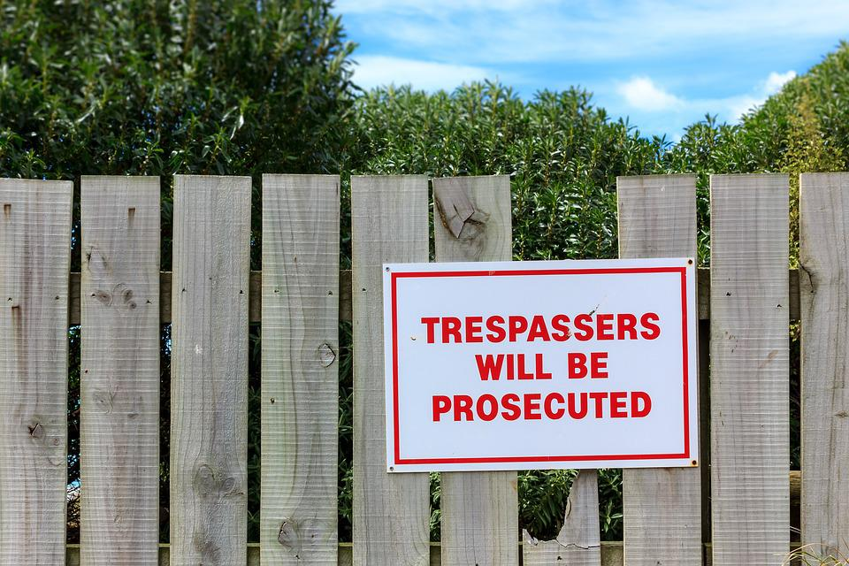 Fence, Wooden Fence, Wood, Boards, Sign, Trespassing