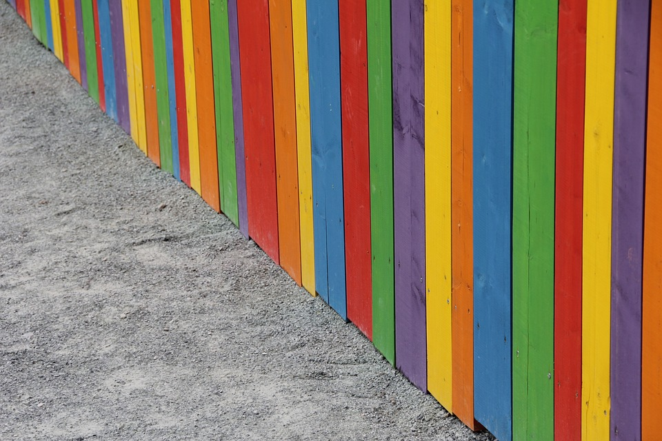 Wallpaper, Colorful, Fence, Color, Lacquered Wood