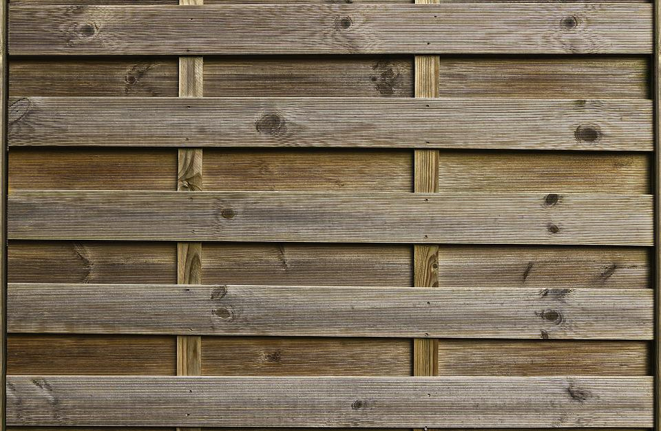 Wood, Privacy, Fence Element, Boards, Battens, Fence