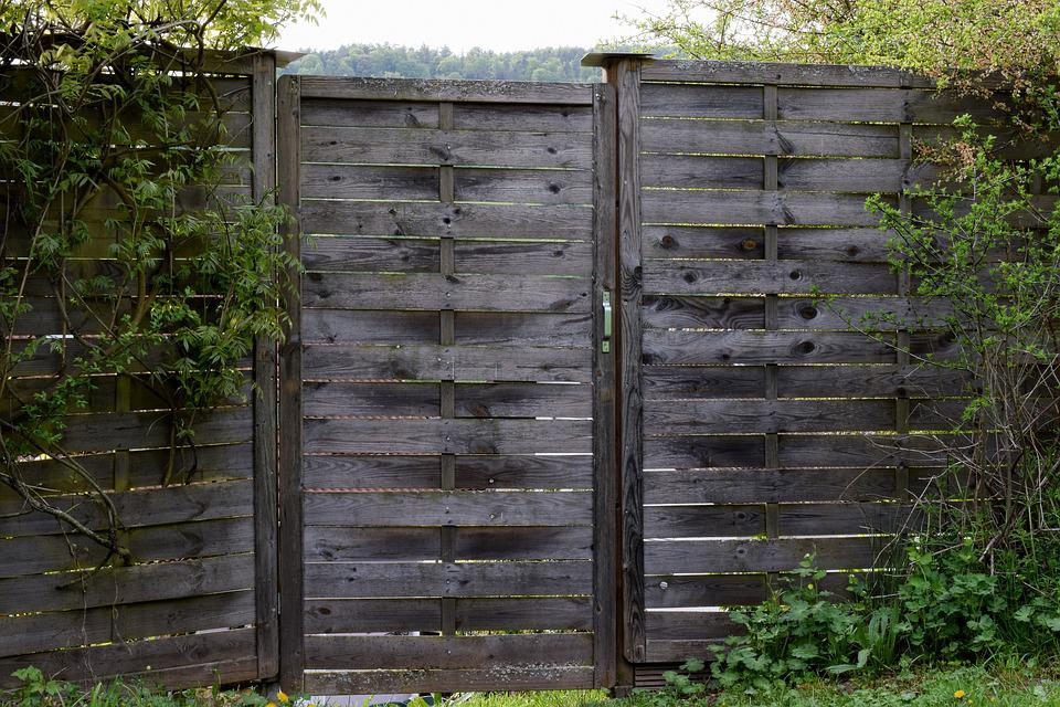 Wood Fence, Garden Fence, Fence, Wood, Paling, Nature