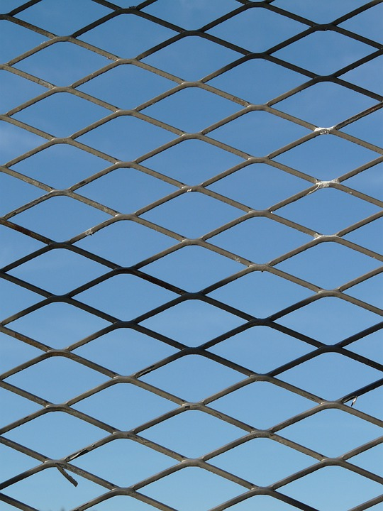 Fence, Gate, Grid, Bars, Metal, Wire