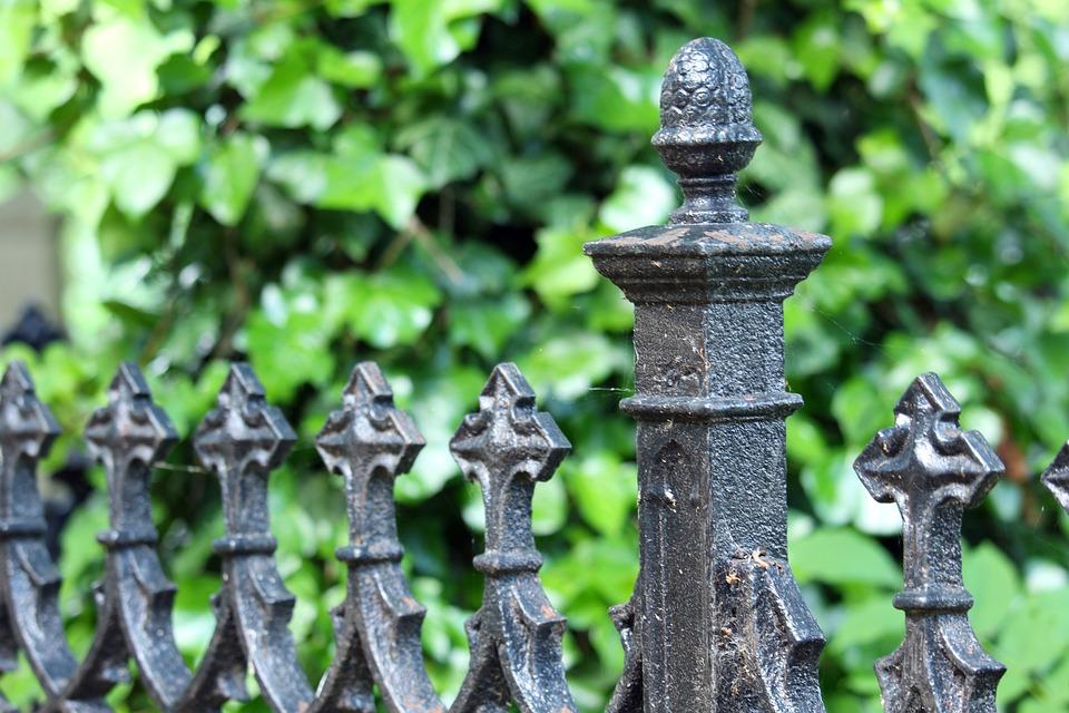 Grave, Cemetery, Iron Fence, Grave Border, Iron, Fence