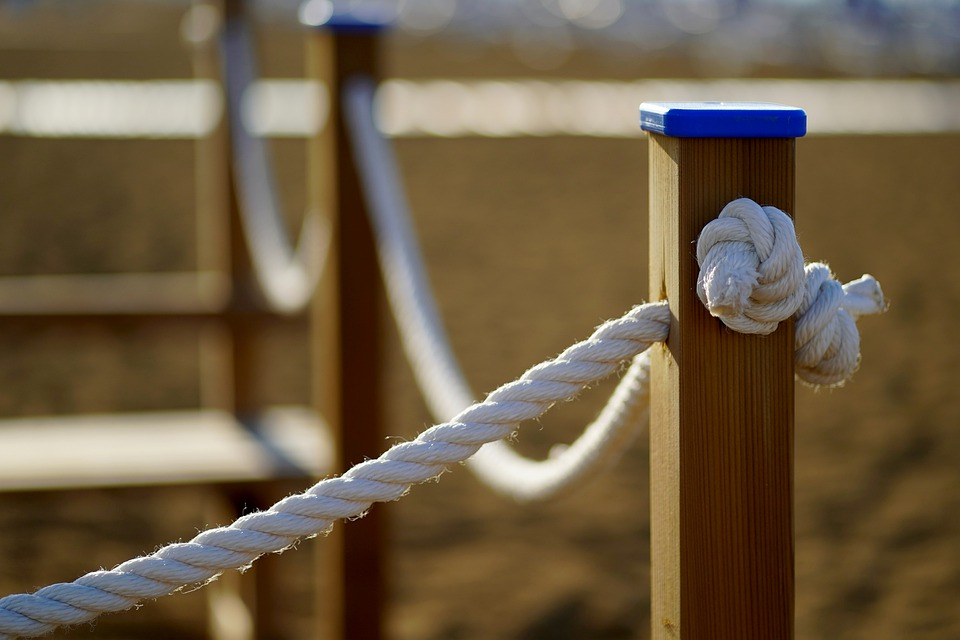 Rope, Knot, Fence, Goal, Wood, Barrier, Fencing