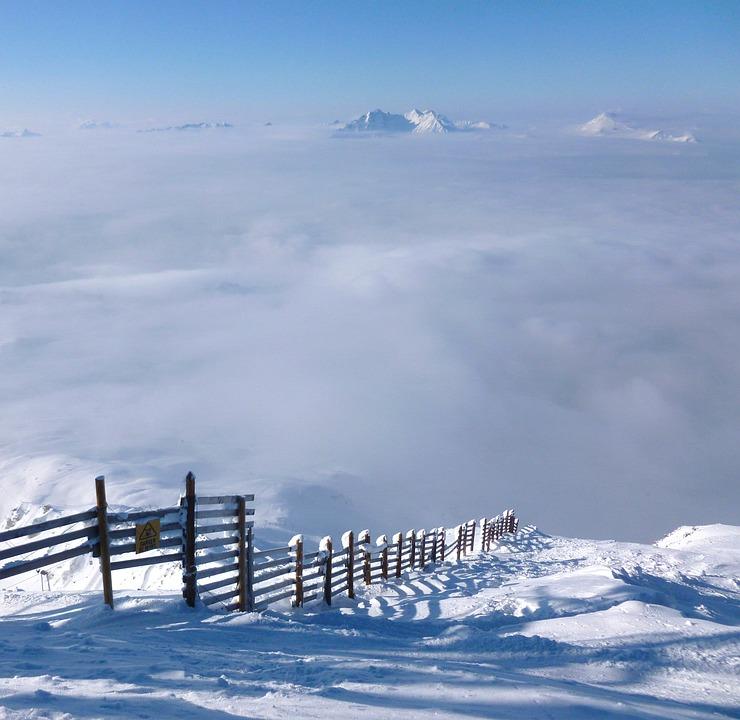 France, Alps, Mountains, Landscape, Fence, Farm, Snow