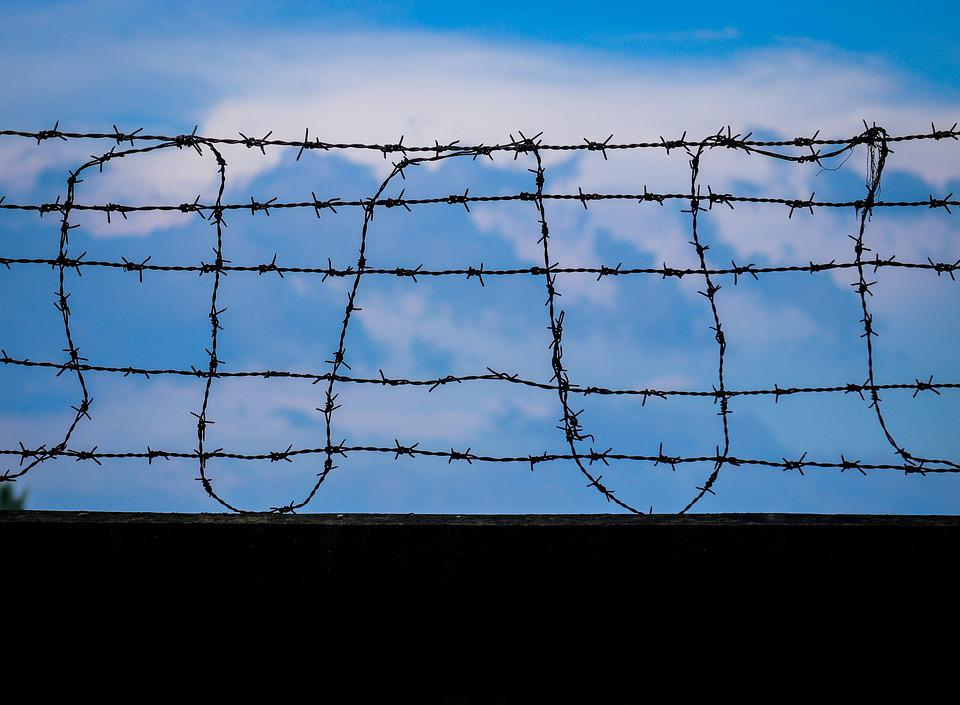 Fence, Day, Sky, No People, Fences, Black Wall