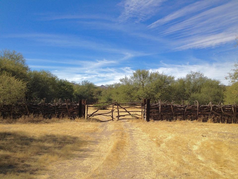 Sky, Fence, Landscape, Nature, Blue, Southwest, Rural