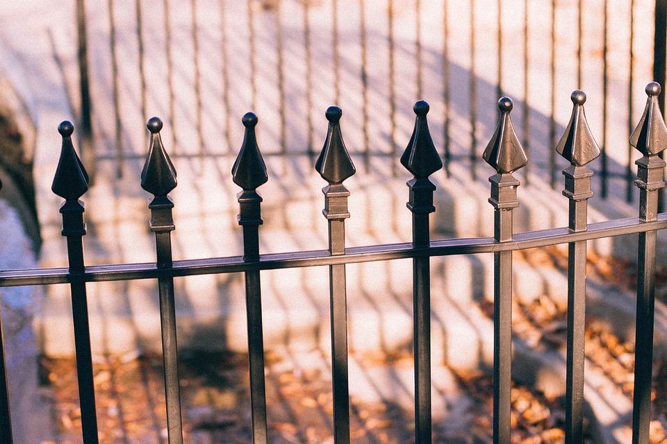 Fence, Steel, Spikes, Metal, Palisade