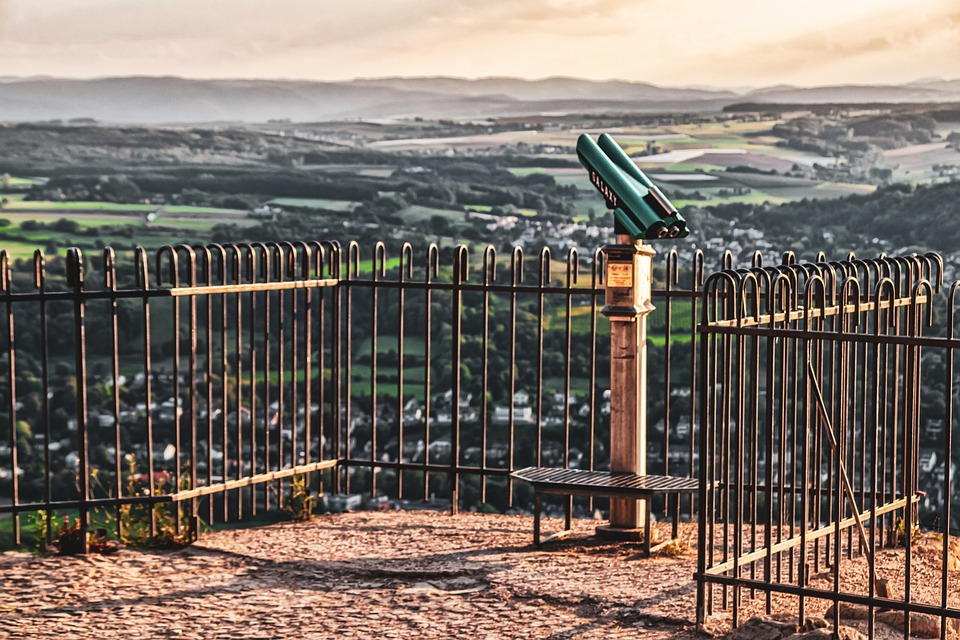 View, Telescope, Landscape, Panorama, Deserted, Fence