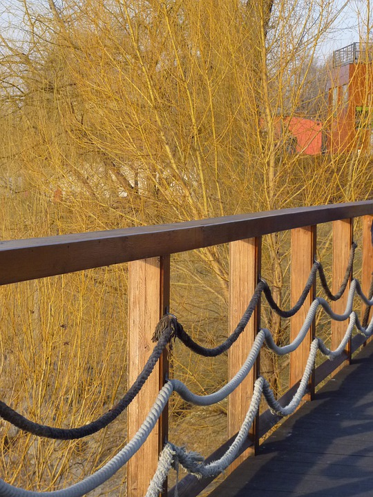 Fence, Wood Fence, Rope