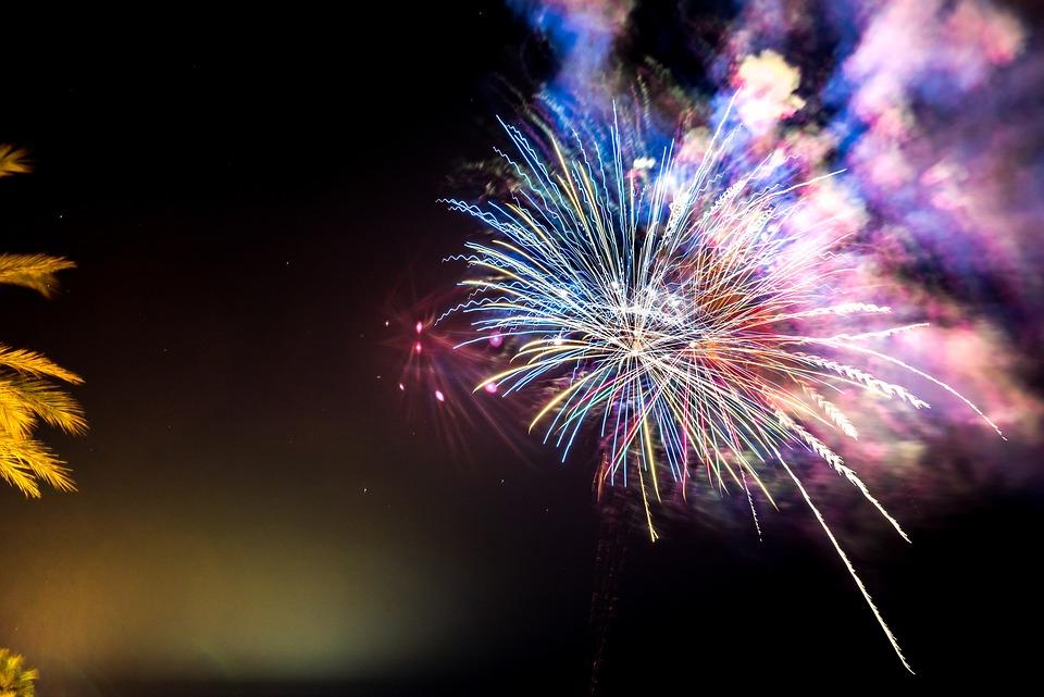 Ferragosto, Fireworks, Night, Pyrotechnics, Fires