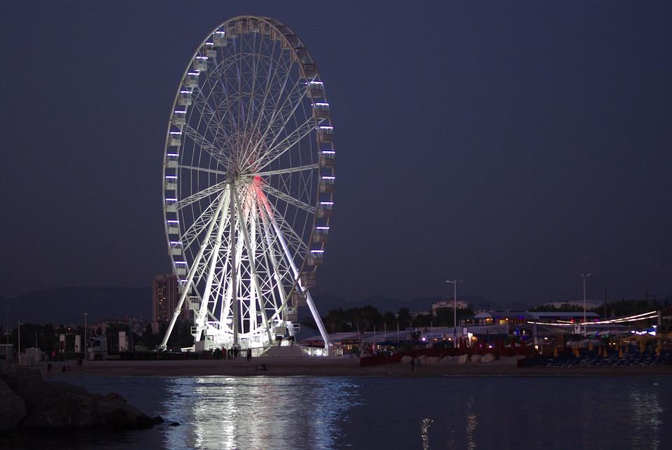 Night, Festival, Ferris Wheel, Light, Evening, Holiday