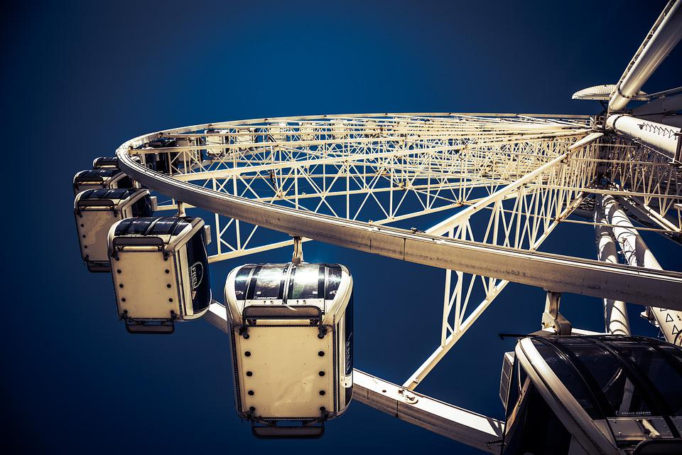 Ferris Wheel Liverpool, Merseyside, Fun, Travel, Summer