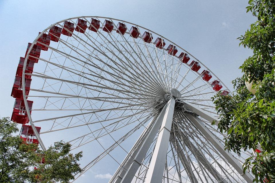 Ferris Wheel, Chicago, Ferris, Wheel, Pier, Navy