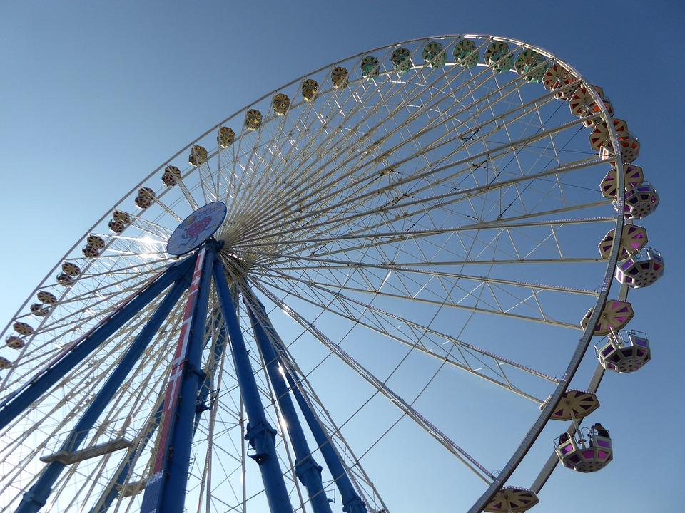 Ferris Wheel, Hustle And Bustle, Ride, Gondolas