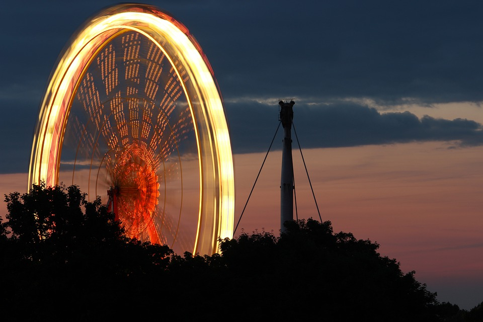 Ferris Wheel, Olympic Park, Long Exposure, Year Market